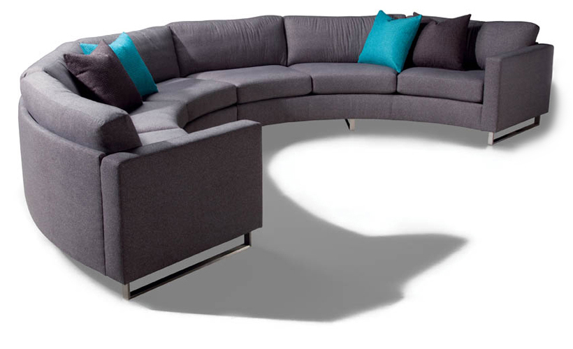 Design Classic 1224 Circular Sectional Sofa by Milo Baughman from