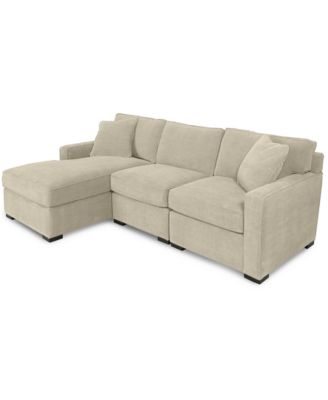 Furniture Radley 3-Piece Fabric Chaise Sectional Sofa, Created for
