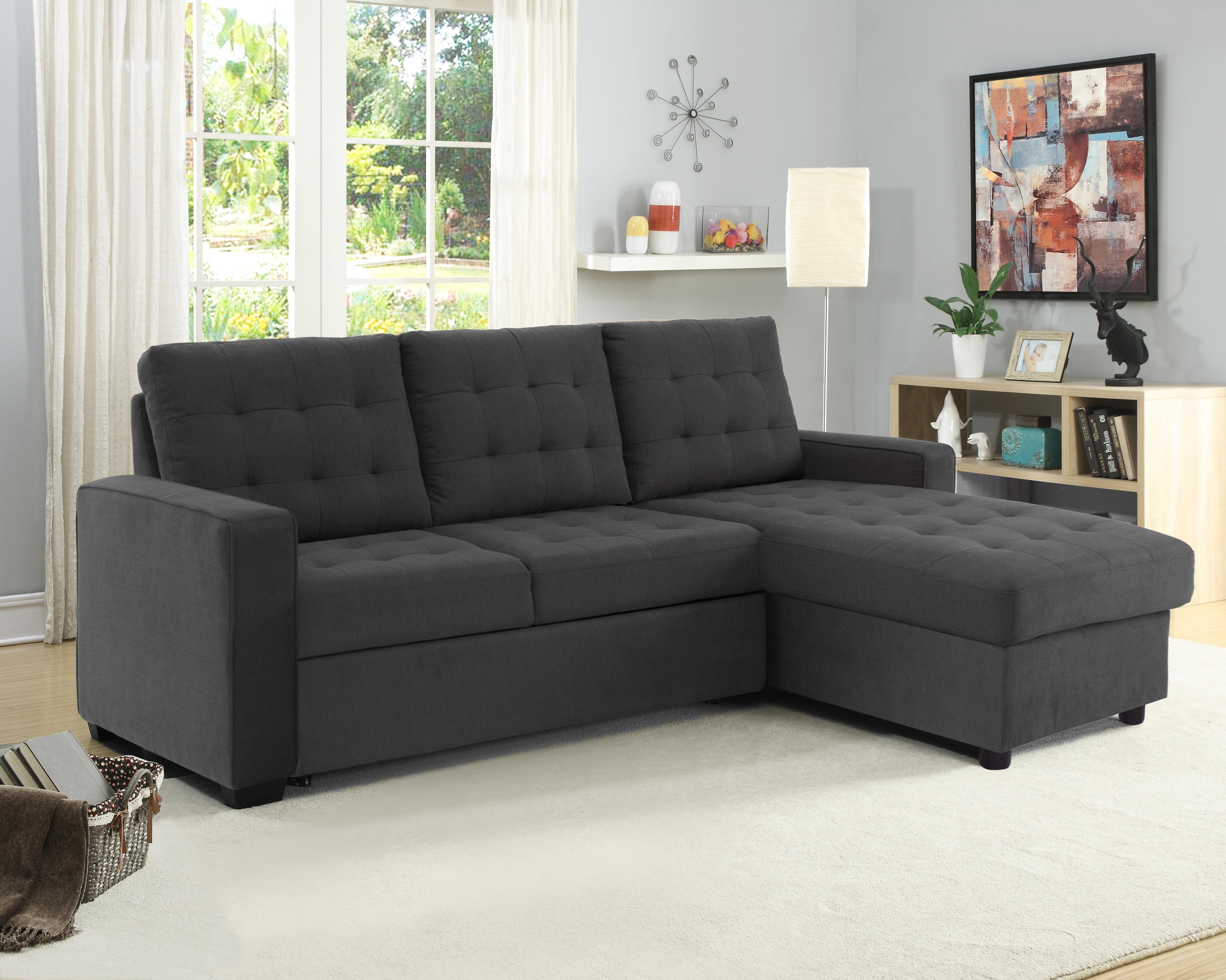 Serta Bostal Sectional Sofa Convertible: converts into a sofa