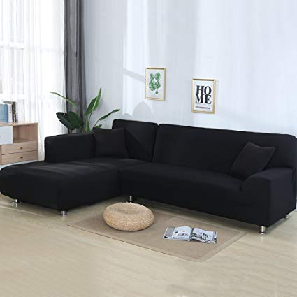 Amazon.com: cjc Universal Sofa Covers for L Shape, 2pcs Polyester