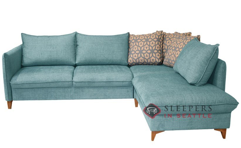 Quick-Ship Flipper by Luonto Chaise Sectional Fabric Sofa by Luonto