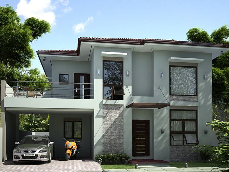 2 Storey Simple Modern House Design | Prefered House | Pinterest