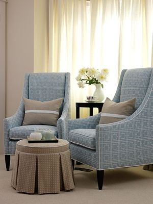 small sitting area - I love the chic, simple lines of these chairs