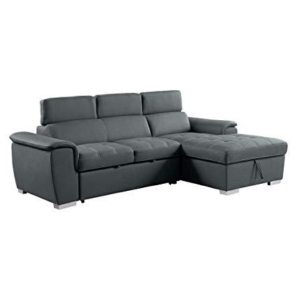 Amazon.com: Homelegance 8228 Sleeper Sectional Sofa with Storage