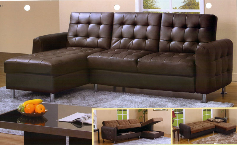 Leather Sectional Sleeper Sofa with Chaise u2013 goodworksfurniture