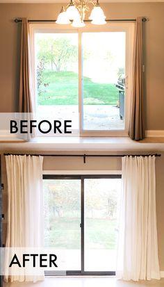 16 Best Patio Door Curtains images | Patio door blinds, Patio door
