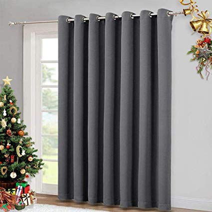 Amazon.com: NICETOWN Patio Sliding Door Curtain - Wide Blackout