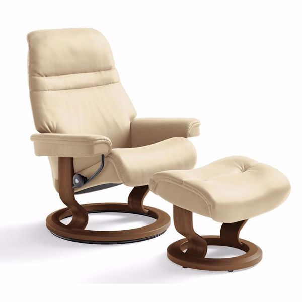 Sunrise Small Chair and Ottoman by Ekornes | Living Room Furniture