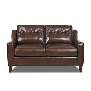 Small Brown Leather Loveseat | Wayfair