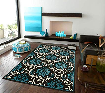 Amazon.com: Luxury Small Rugs For Bedroom Blue Area Rugs Entrance