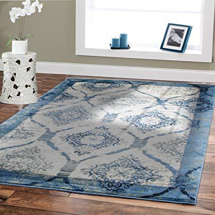 Amazon.com: Small Rugs For Living Room 2x3 Door Mats Indoor Blue