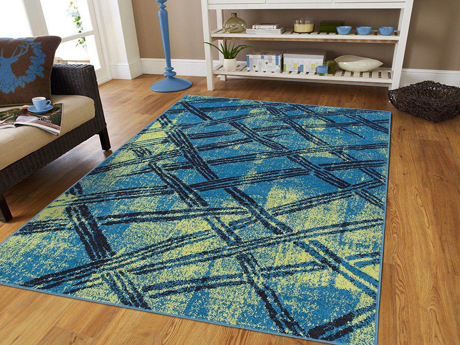 Area Rugs on Clearance Small Rugs for under $20 2x3 Green Blue Door