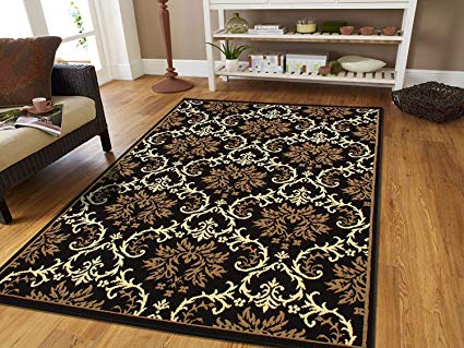 Amazon.com: Small Rugs for Bedroom Contemporary Rugs Black 2x3 Rug