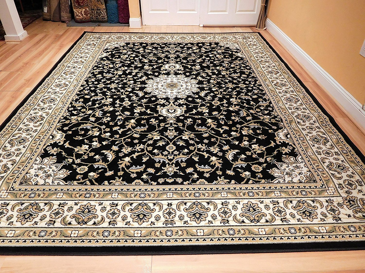 Traditional Area Rugs 2x3 Small Rugs for Black Bedroom Door Mat Area