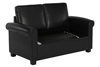 Amazon.com: Twin Sleeper Sofa Bed Loveseat Wide Track Padded