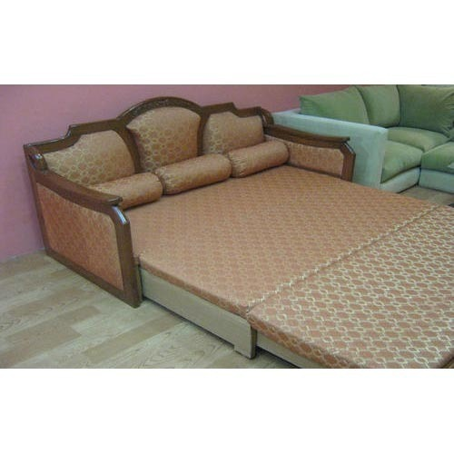 Wooden Sofa Cum Bed at Rs 55000 /piece | लकड़ी का सोफा