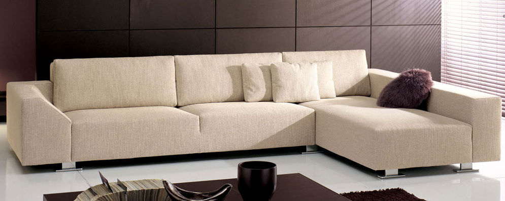 Corner sofa / contemporary / fabric / 3-seater - LOUNGE - CTS SALOTTI