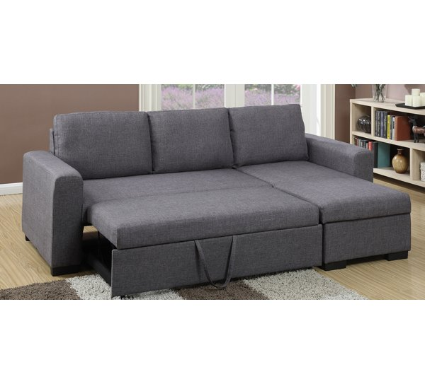A&J Homes Studio Amanda Sleeper Sectional & Reviews | Wayfair
