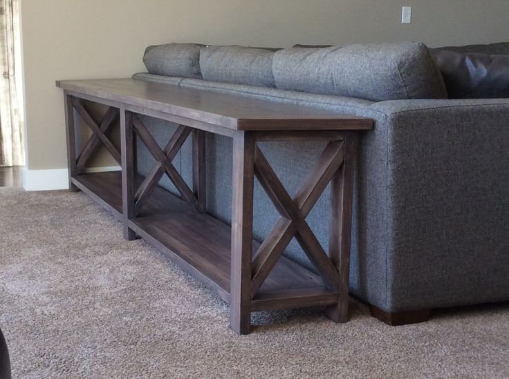 Ana White | Extra long, no middle shelf Rustic X Console - DIY