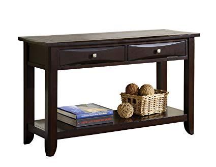 Amazon.com: Furniture of America Bury Sofa Table, Espresso: Kitchen