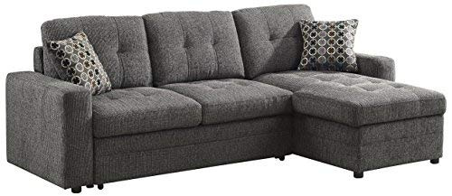 Amazon.com: Gus Sectional Sofa with Pull Out Bed Charcoal: Kitchen