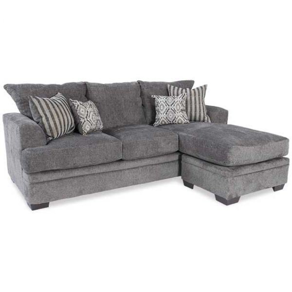 Cornell Pewter Sofa With Chaise B2-3657 | AFW | AFW