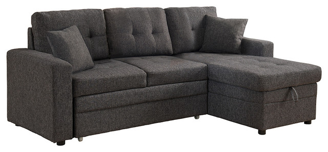 Darwin Sectional Sofa With Storage and Pull Out Bed - Contemporary