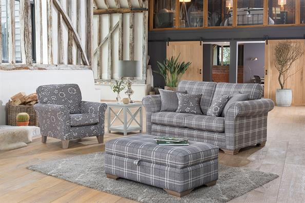 Alstons Georgia fabric sofas armchairs - Planet Furniture
