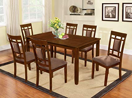 Amazon.com - The Room Style 7 piece Cherry Finish Solid Wood Dining