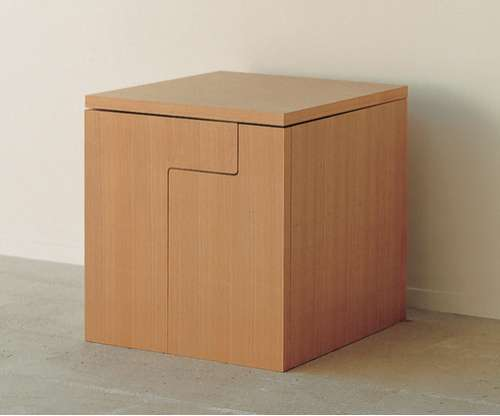 Space Saving Furniture: Dining Table in a Cube