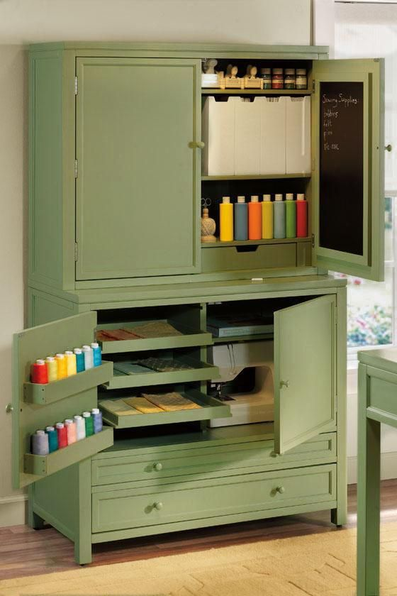 I {HEART} Martha Stewart Craft Storage Hutch -