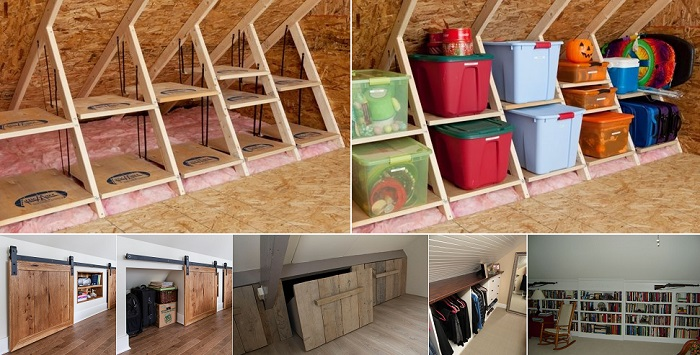 Clever Storage Ideas For Your Attic | Home Design, Garden