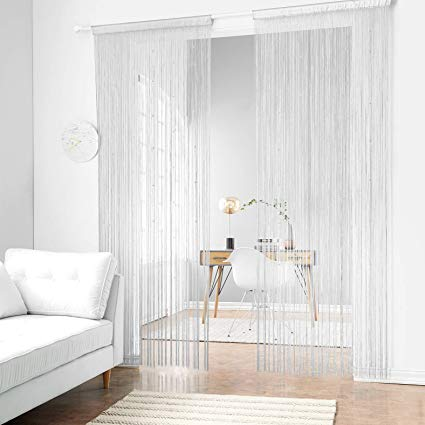 Amazon.com: Taiyuhomes Beaded String Curtains with Pearl Beads Dense