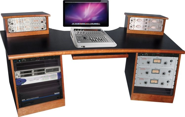 Sound Construction DigiStation Recording Studio Desk - Cherry