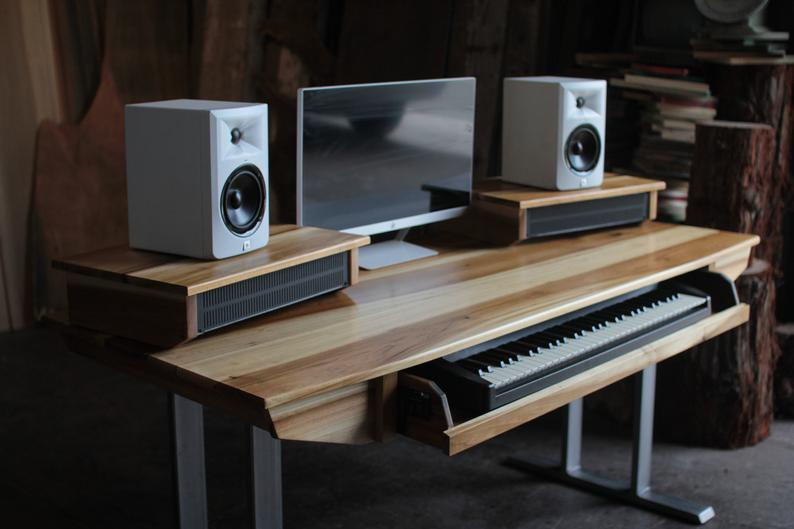 Midsize Modern Wood Recording Studio Desk for Composer / | Etsy