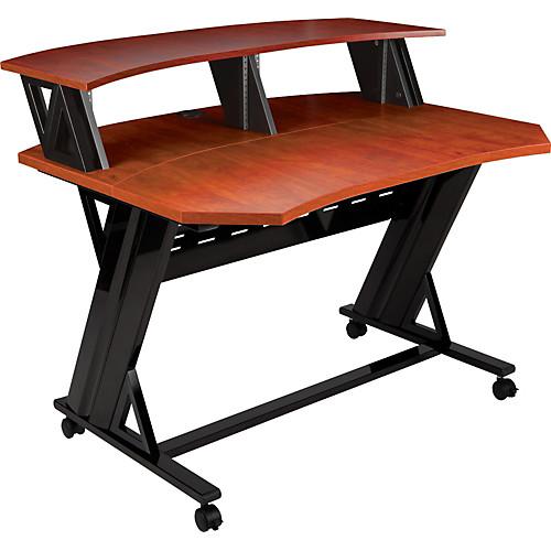 Studio Trends 46 in. Studio Desk with Dual 4U Racks Cherry | Guitar