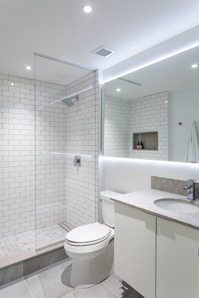Best 2 Modern Bathroom Subway Tile Walls Drop In Sinks Design Photos