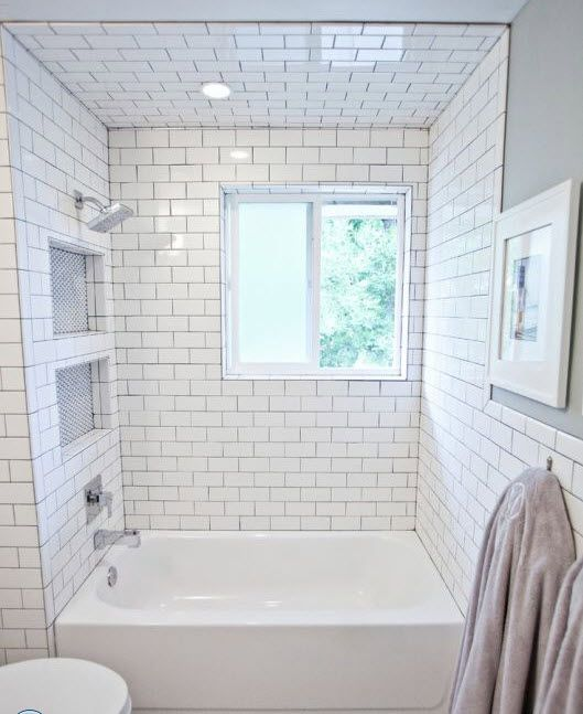 29 white subway tile tub surround ideas and pictures | Bath in 2019
