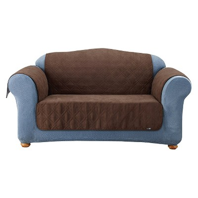 Furniture Friends Quilted Suede Loveseat Cover - Sure Fit : Target