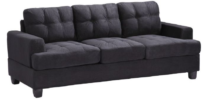 Glory G515A Black Suede Sofa Set