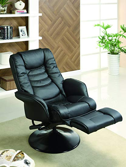 Amazon.com: Leatherette Swivel Recliner Black: Kitchen & Dining