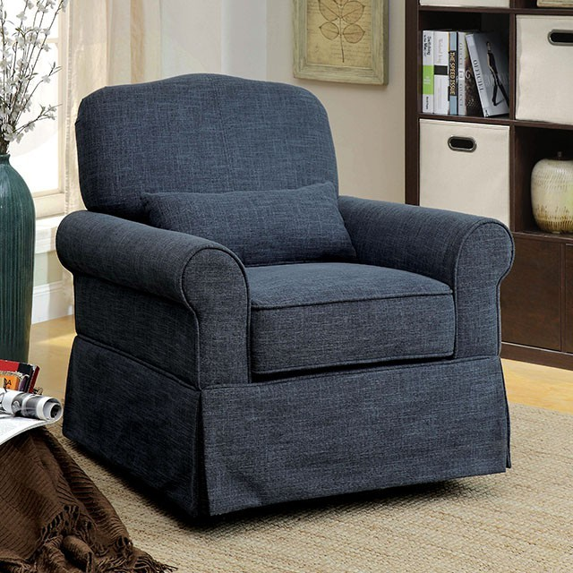 Lesly - Swivel Glider/Rocker Chair | CM-RC6459BL | Recliners