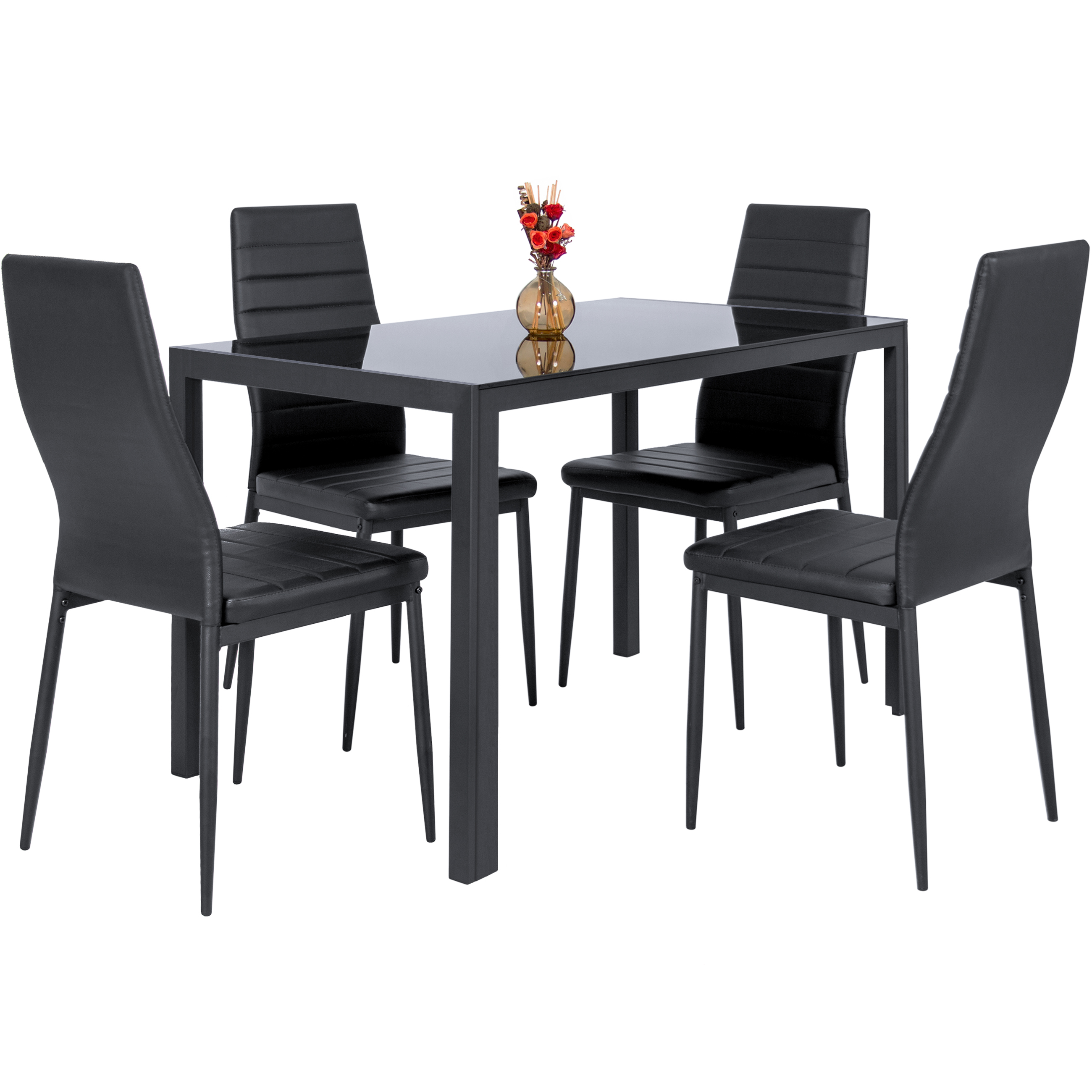 Best Choice Products 5 Piece Kitchen Dining Table Set W/ Glass Top