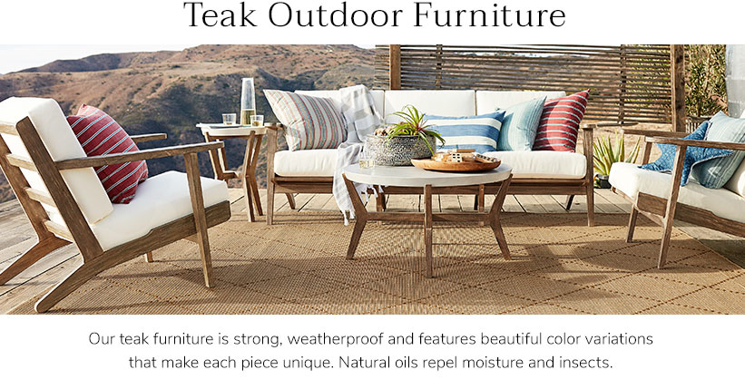 Outdoor Teak Sofas | Pottery Barn