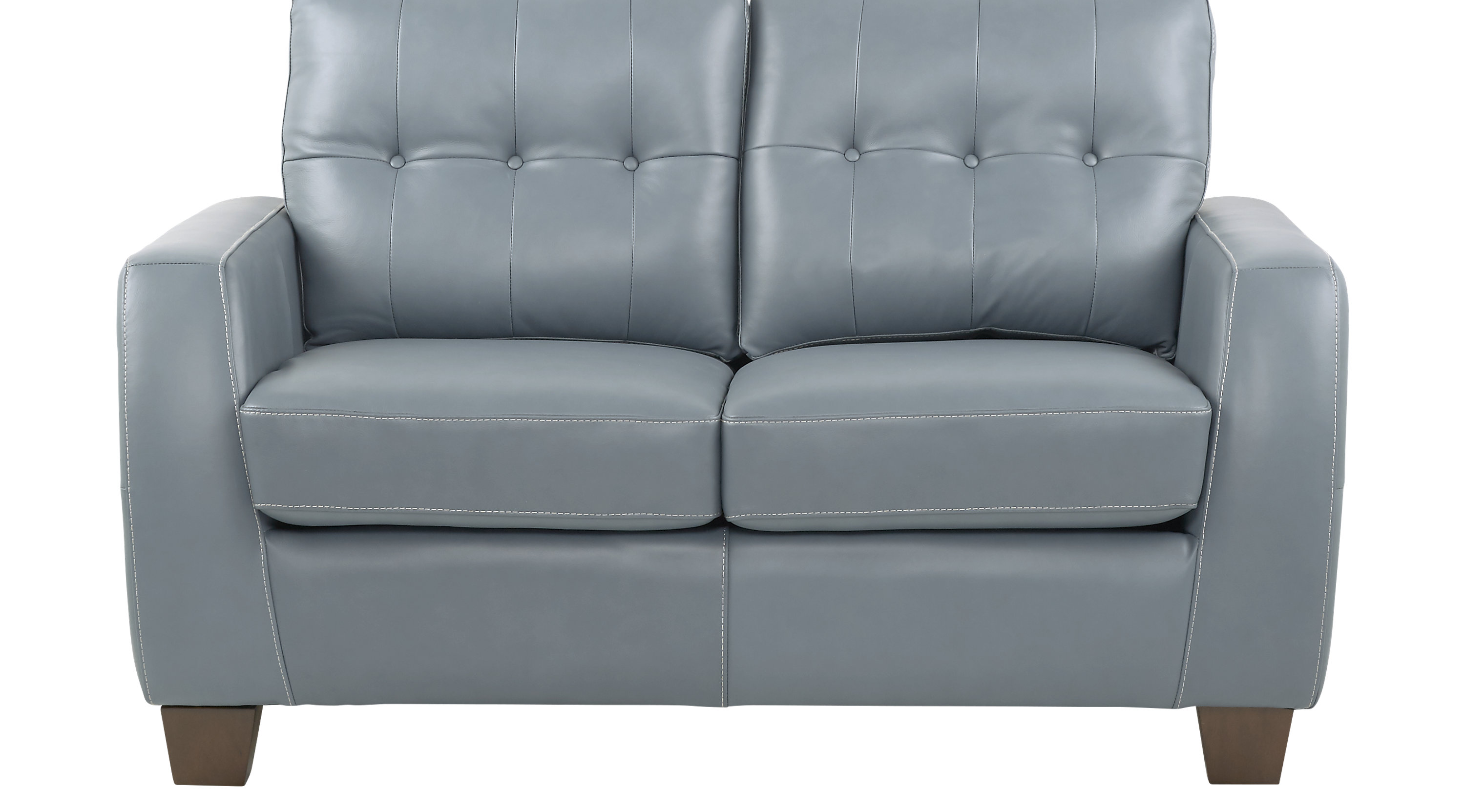 $779.99 - Santoro Ocean (blue) Leather Loveseat - Classic