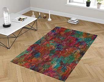 Throw rug   Etsy