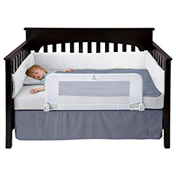 Amazon.com : hiccapop Convertible Crib Toddler Bed Rail Guard with