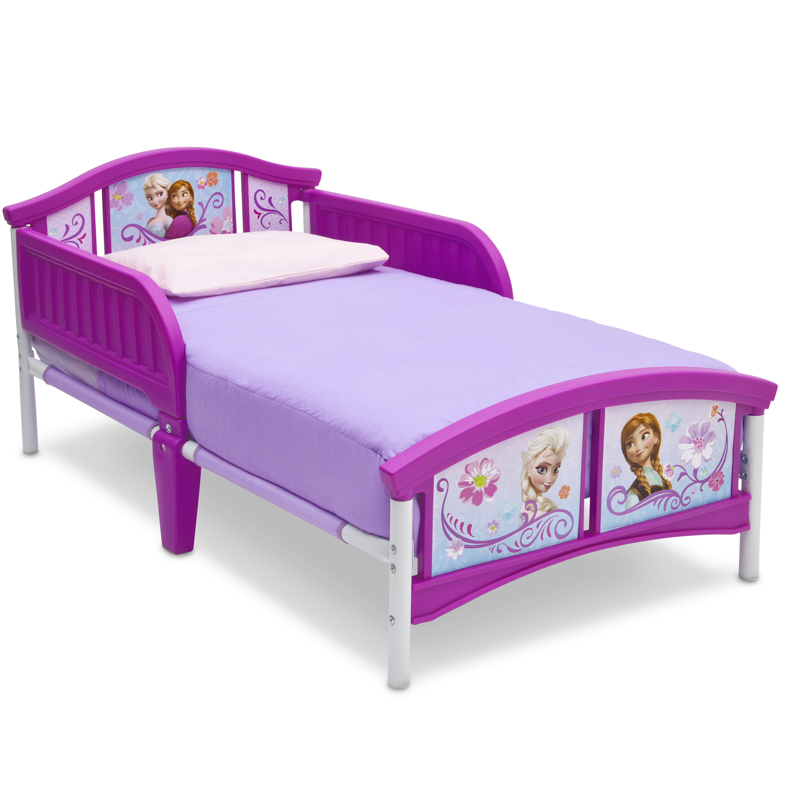Delta Children Disney Frozen Plastic Toddler Bed, Purple - Walmart.com