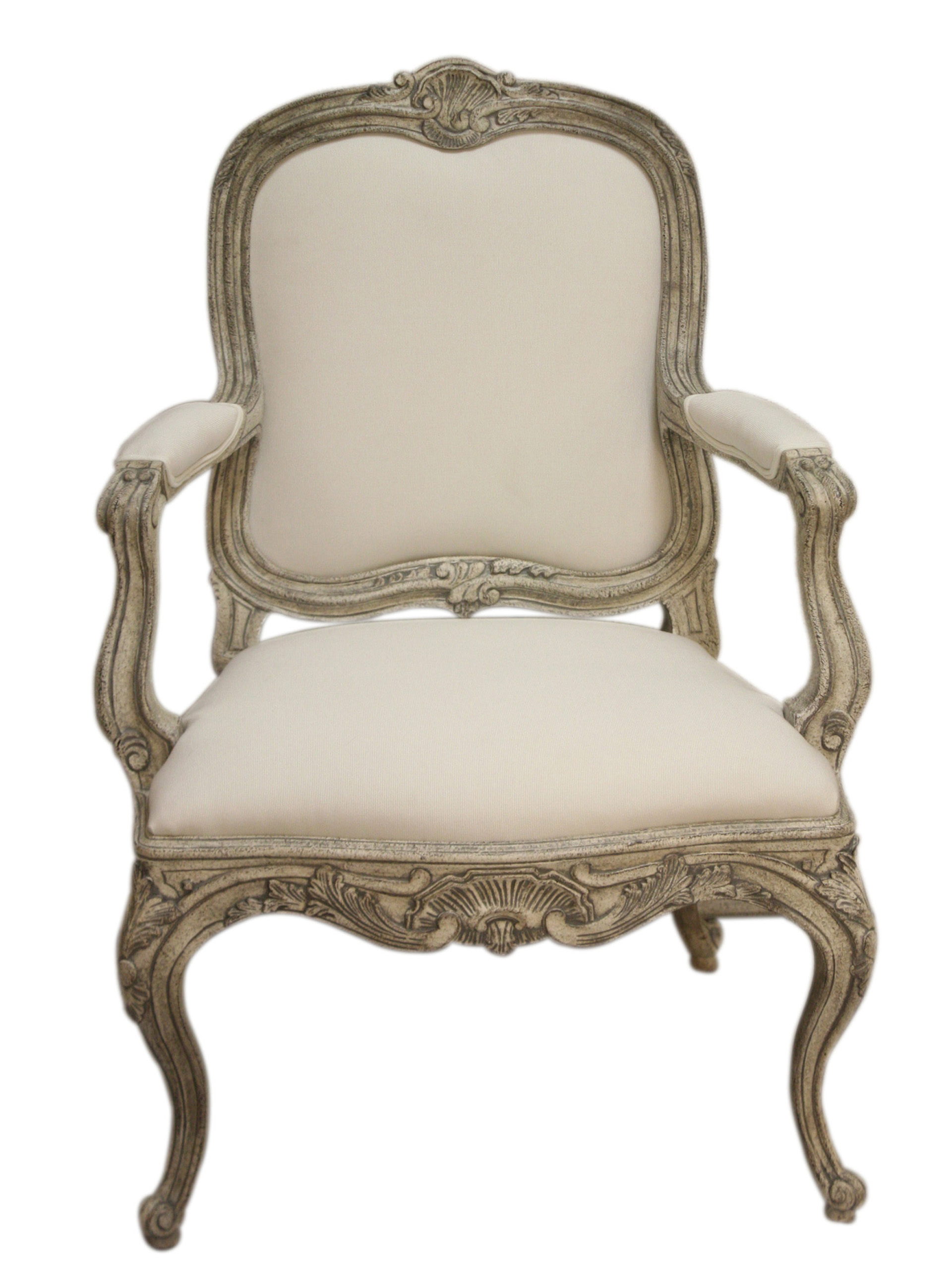Swedish Curvy Rococo Occasional Armchair SC0021 - Traditional
