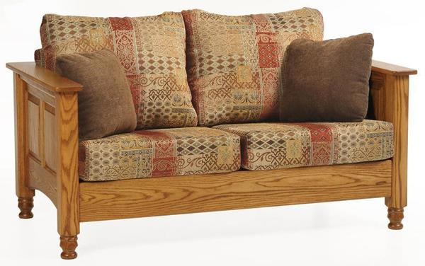 Traditional Wood Trim Loveseat from DutchCrafters Amish Furniture